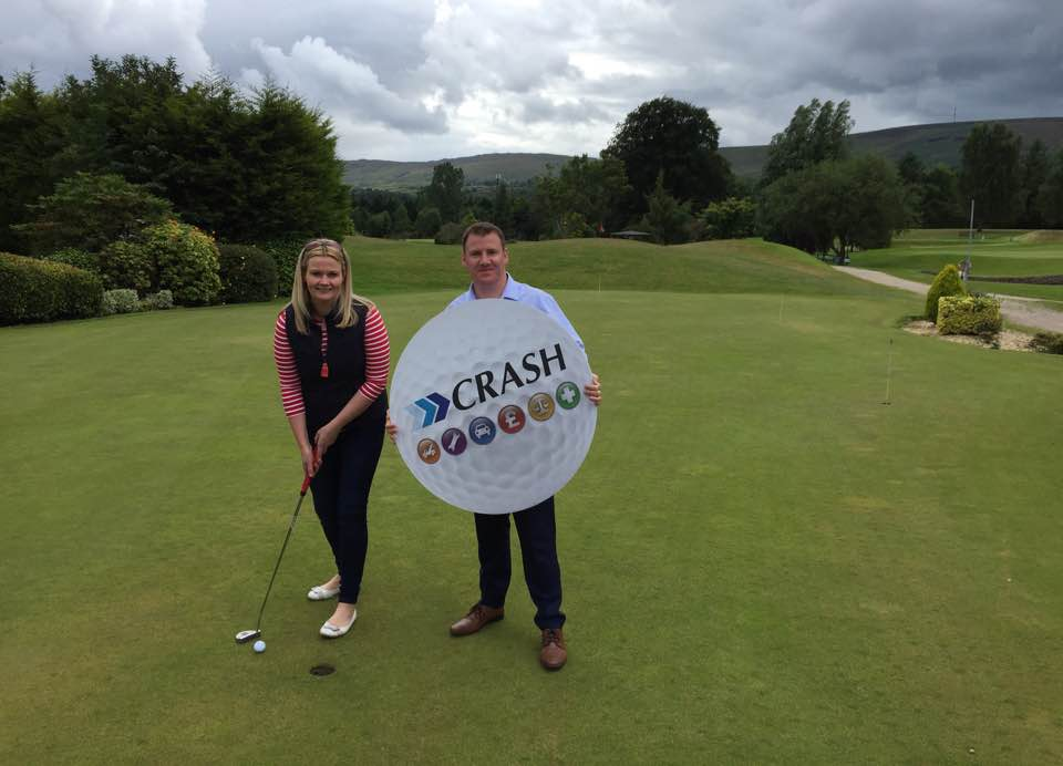CRASH launch golf classic with newry chamber