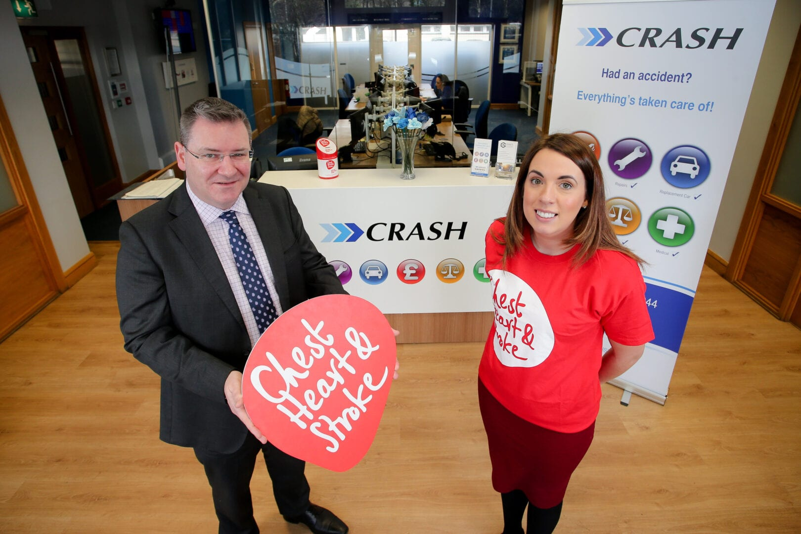 CRASH choose Chest heart and stroke as charity