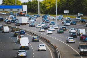 Busy motorway - avoid a road accident