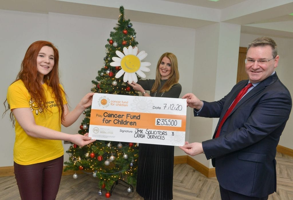 CRASH Services and JMK Solicitors raise over £35,000 for Cancer Fund for Children