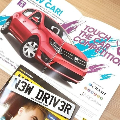 new driver ni touch the car competition